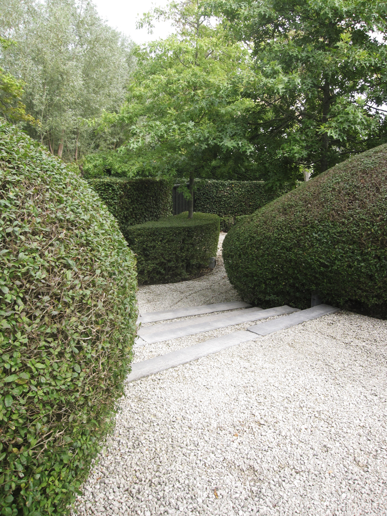 Strakke tuin ontwerp met oog voor textuur en materialen avantgarden - Tuin ontwerp exterieur ontwerp ...