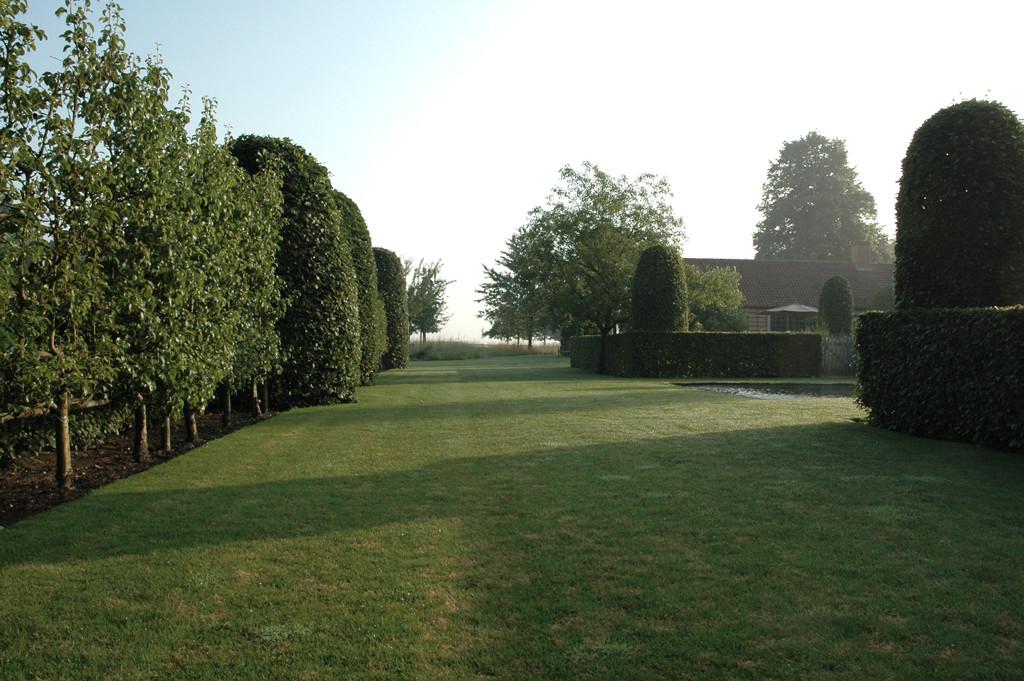 landelijke tuin zwemvijver