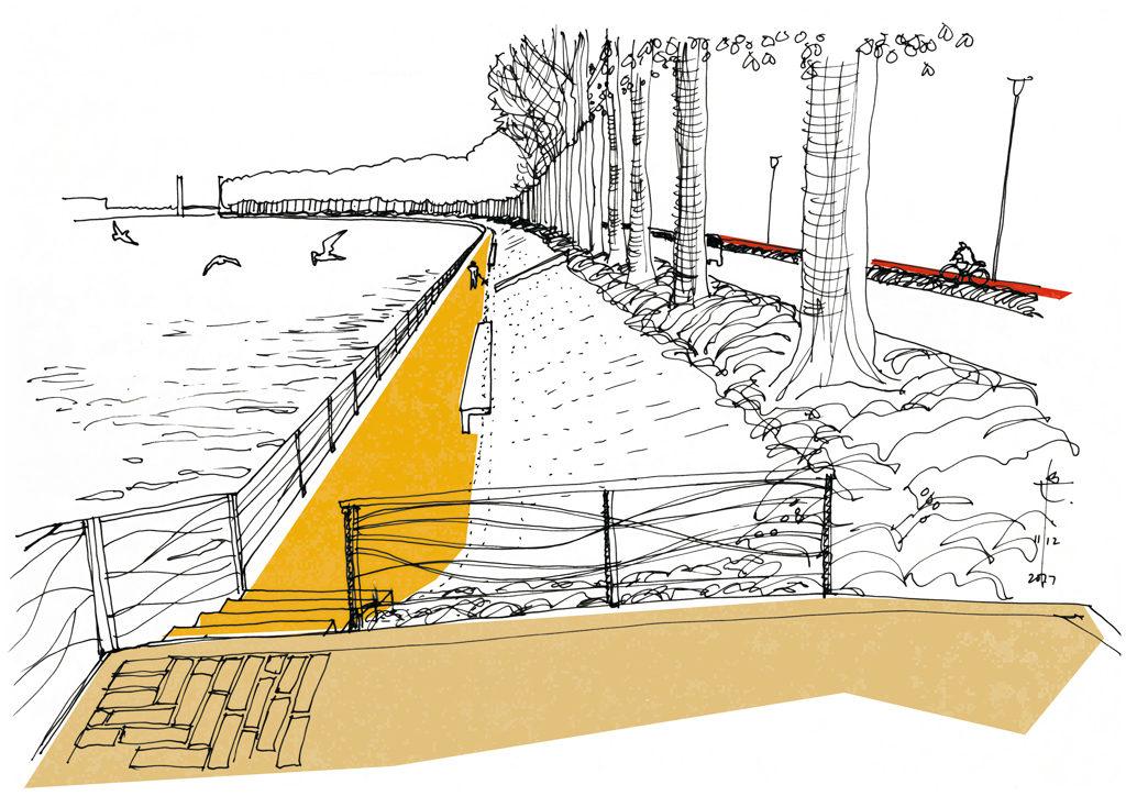 Avantgarden tekening ontwerp jaagpad Willebroek Zemst