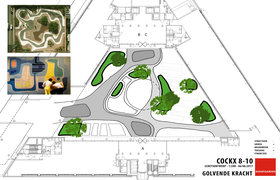 Avantgarden ontwerp binnentuin Jules Cockxstraat